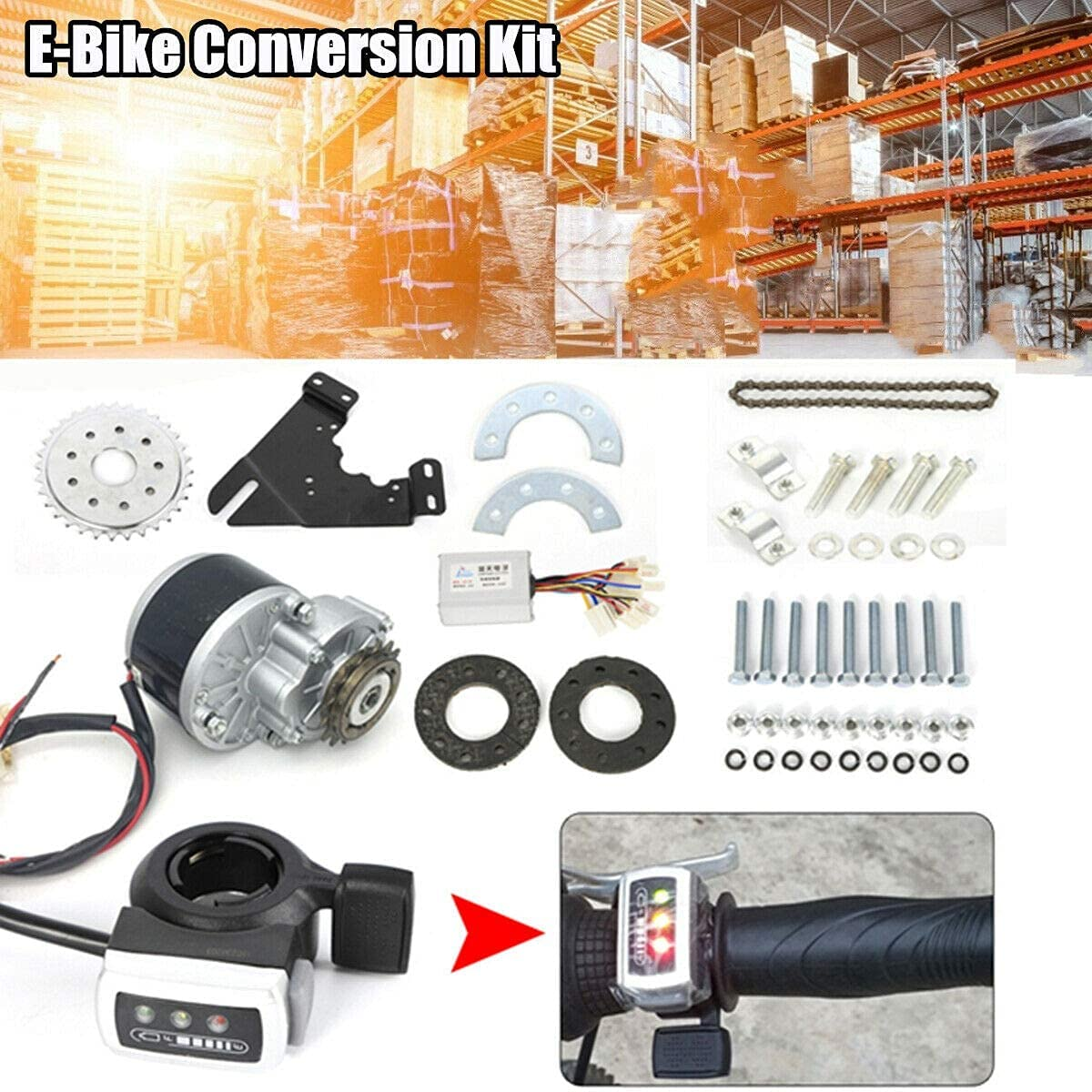 24V 250W Electric Bicycle Motor Kit E-Bike Conversion Kit  Freewheel Thumb Kit