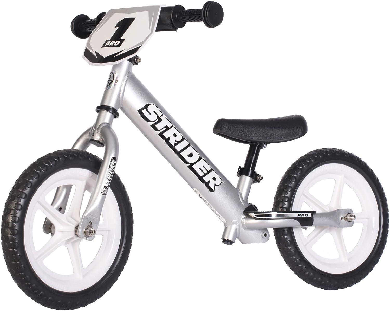 Strider 12 Pro Balance - Bicicleta sin Pedales Ultraligera - para niños de 18 Meses, 2,3, 4 y 5 años, sillín Ajustable, 12 Pulgadas