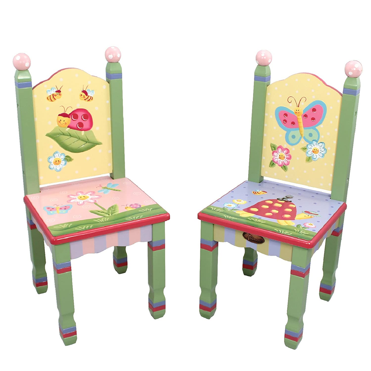 Juego de mesa y silla infantil de madera Magic Garden de Fantasy Fields W-7484A: Amazon.es: Bebé