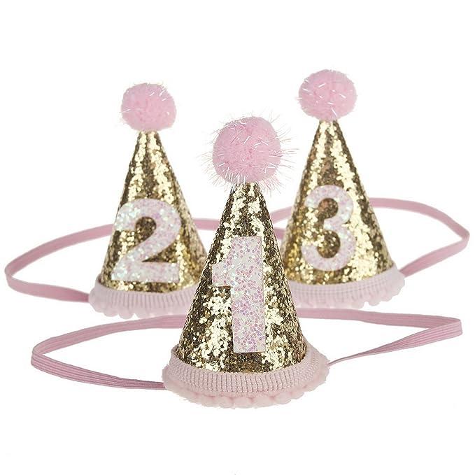 ARAUS Sombrero de cumpleaños para Baby Girl Child Pink ...