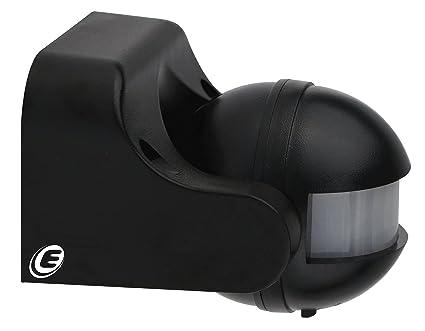 Electraline 58411 - Sensor detector de presencia de movimiento, interruptor crepuscular y timer IP44,