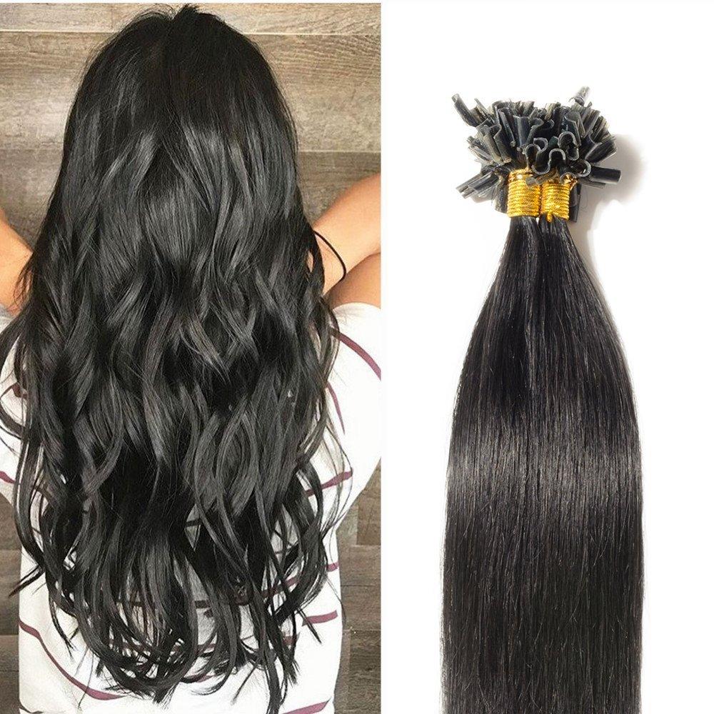 Amazon 20 U Tip Hair Extensions Human Hair 100 Strands