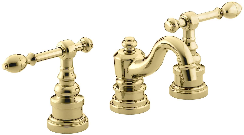 KOHLER K-6811-4-PB IV Georges Brass Widespread Lavatory Faucet ...