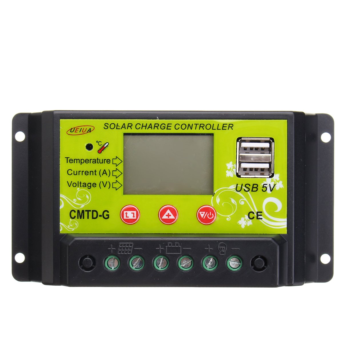 OlogyMart 20A Solar Panel Charge PWM Controller Regulator LCD 12V 24V
