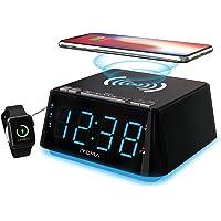Alarm Clock Bedside Alarm Clock Dual Alarm,QI Wireless Charging &USB Charging,Night Light,Dimmer Control, Snooze, Sleep…