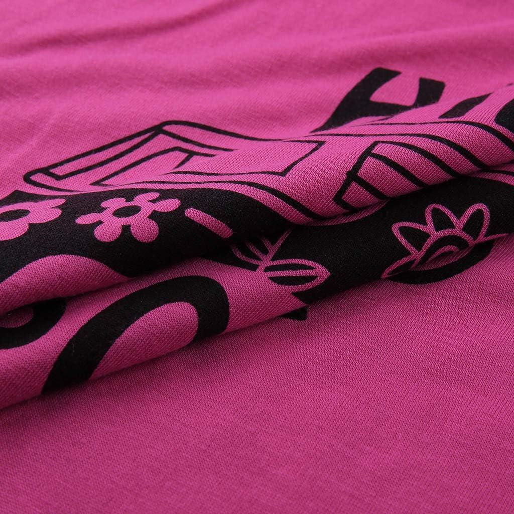 Kauneus Womens Irregular Plus Size Pullover Tops Long Sleeve Cartoon Hippie Soul Print Loose Casual T Shirt S-5XL