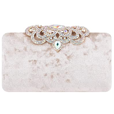 Amazon.com: Fawziya - Clutches para mujer con purpurina de ...
