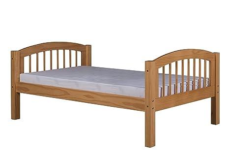 Amazon.com: Plataforma cama con arco Spindle cabecero en ...