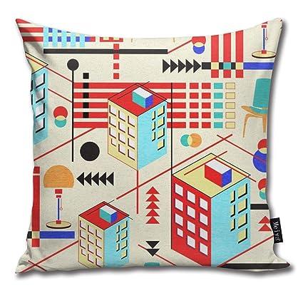 Amazon.com: Brecoy Bauhaus Design Throw Pillow Cushion Cover ...