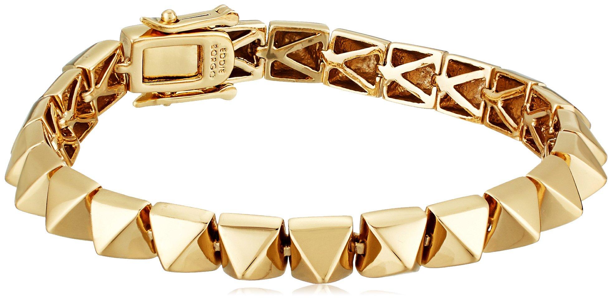 EDDIE BORGO Small Pyramid Gold Tennis Bracelet