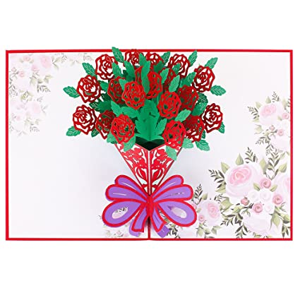 Amazon thank you cards fillixar 3d pop up cards greeting thank you cards fillixar 3d pop up cards greeting cards with envelopes handmade greeting m4hsunfo