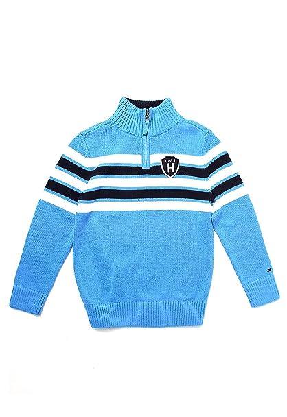 5b73dd5a0e1 Tommy Hilfiger Blueberry Cobbler Sueter para Niños Azul Talla M ...