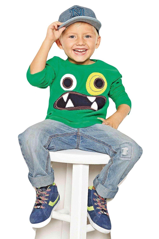 Alif Laila Cute Monster Applique Pure Cotton Green T-shirt