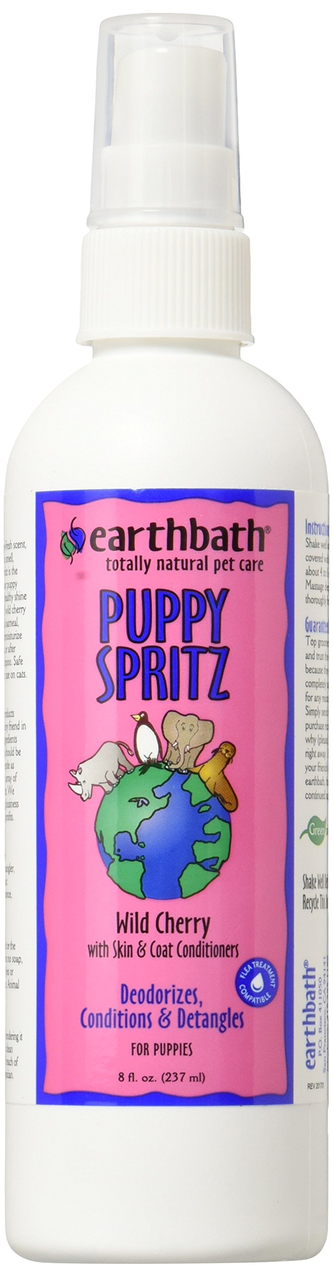 Earthbath All Natural Puppy Deodorizing Spritz, 8-Ounce (Label may vary)