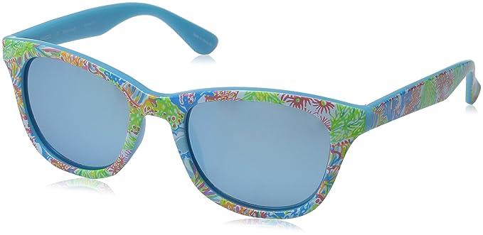 bf7871de65 Lilly Pulitzer Women s Maddie Polarized Wayfarer Sunglasses Lovers Coral  52.0 mm