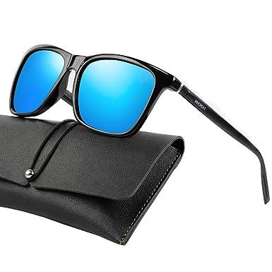 WHCREAT Gafas De Sol Polarizadas Retro Unisex Diseño De Moda Vintage Conducción Ultra Espejo Lente Espejada para Hombre y Mujer
