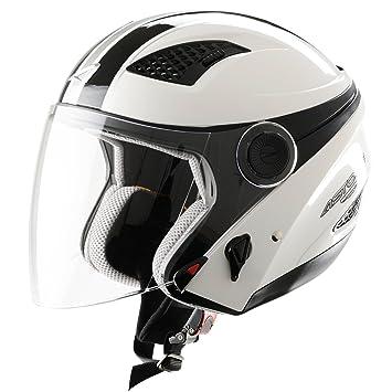 Astone Helmets Casco Jet Bel Air, color Stripes Blanc, talla XS