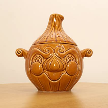 Amazon Ceramic Pot Jar For Onions Lid Onions Brown