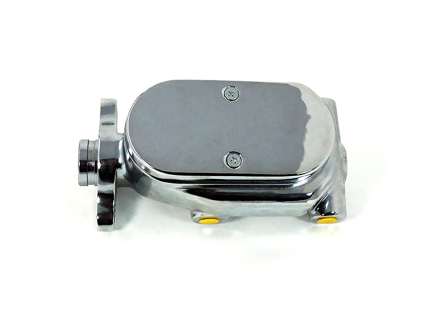 3//8 Ports Chrome Aluminum Master Cylinder 1 1//8 Bore 4 Smooth Top