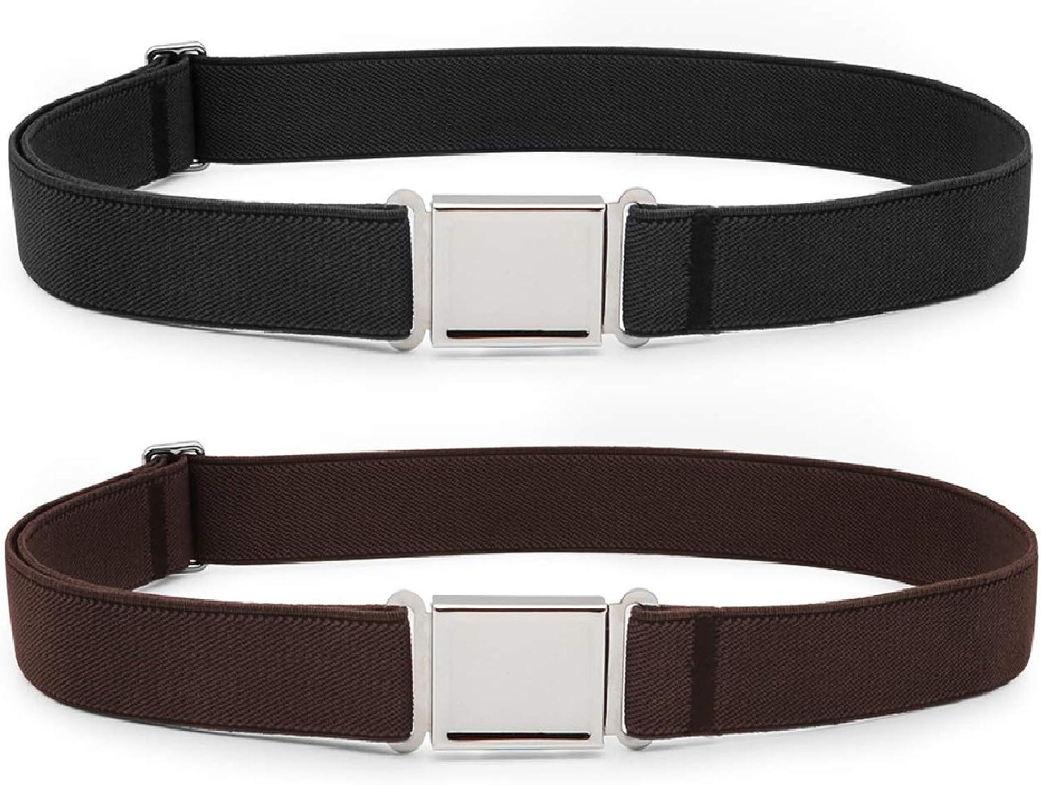 JASGOOD Kids Adjustable Magnetic Belt Boys Girls Elastic Belt with Easy Magnetic Buckle for Back to School Girls