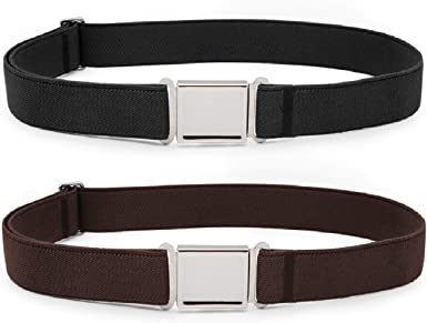 kids Belts Amazon.com: JASGOOD Kids Adjustable Magnetic Belts for Boys Girls Elastic  Belt with Easy Magnetic Buckle(Black+Coffee, pant size 16-26Inch): Clothing