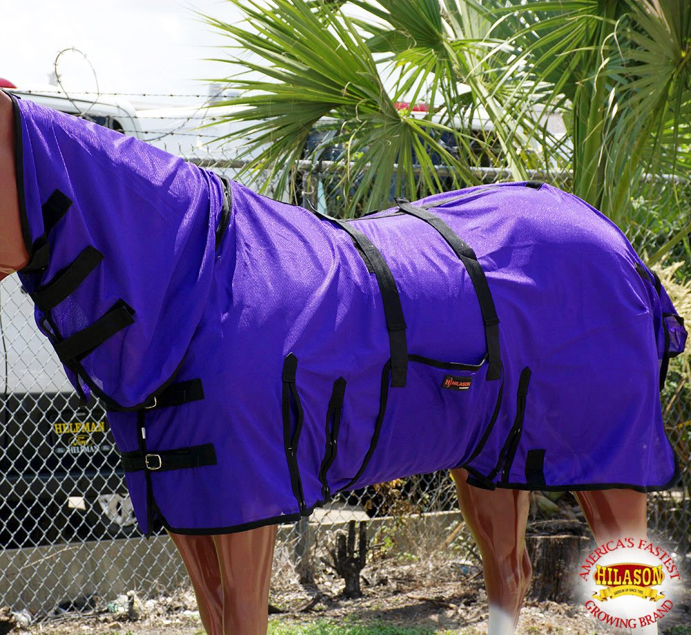 HILASON 81' UV Protect MESH Bug Mosquito Horse Fly Sheet Summer Spring Purple