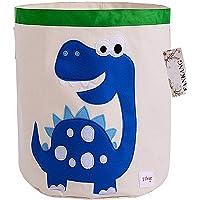 FANKANG Large Sized Toy Bin Stylish Dinosaur Design Canvas & Linen Fabric Storage Basket Laundry Hamper with Waterproof…