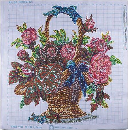 Wunderschöne Blumenkorb Kreuzstich Stickpackung Stickbilder