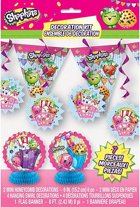 Shopkins Party Decoration Kit, 7pc