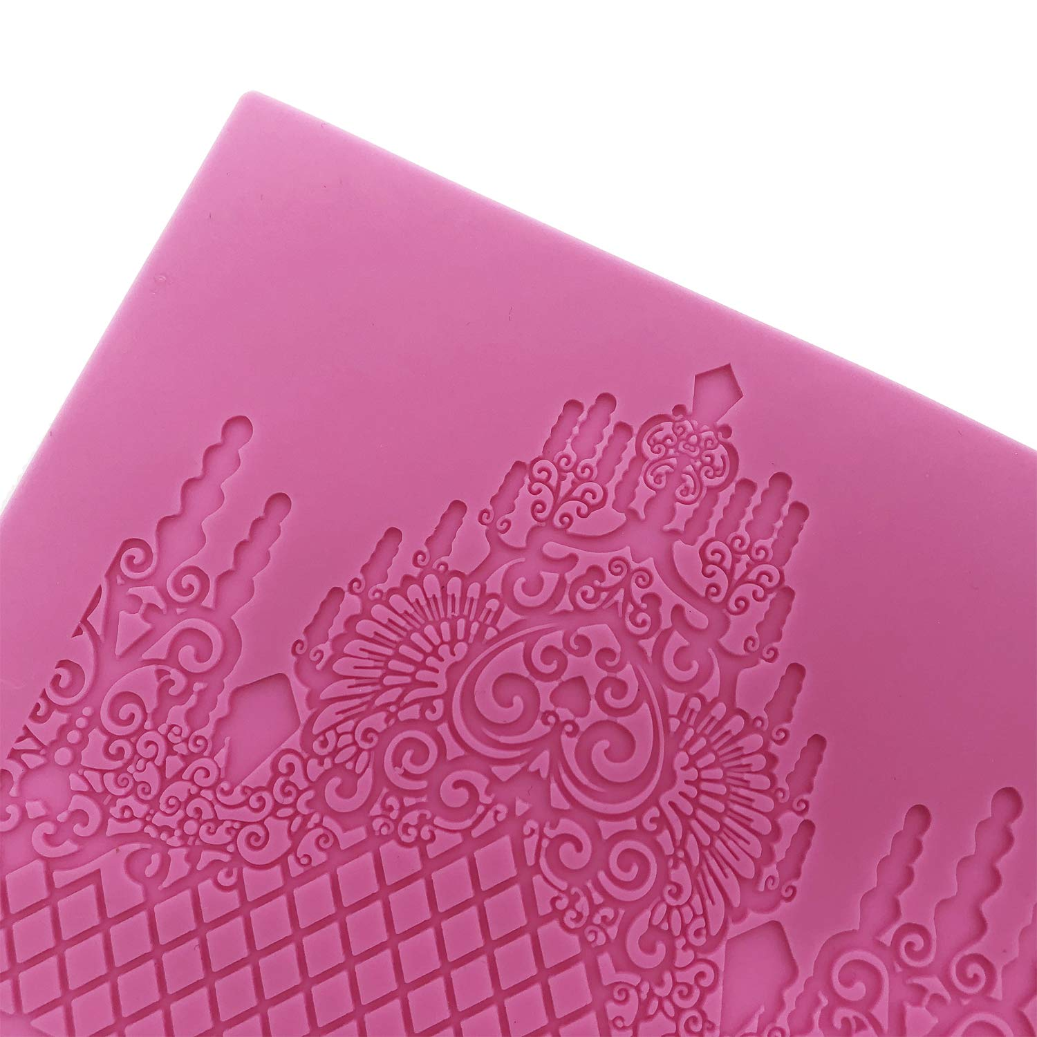 Silicone Lace novit/à Lace silicone Mold Sugarcraft torta nuziale Decor impressione Gum pastry Tool Kitchen Tool Sugar paste baking Mould Cookie pastry Butterfly