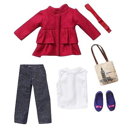 Amazon.com: Viaje Niñas 18 inch muñeca moda traje – Pea Coat ...