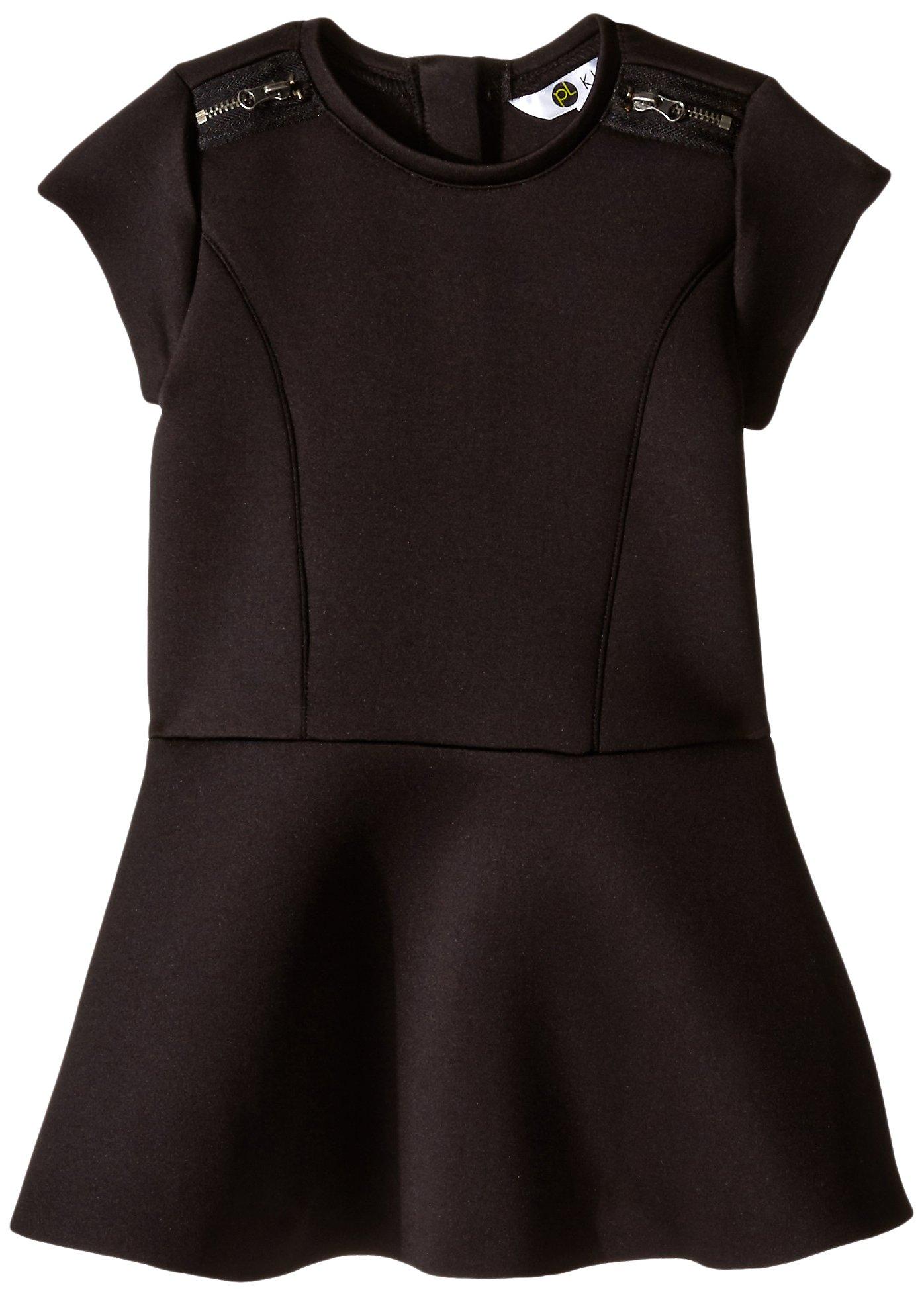 Petit Lem Little Girls' English Rose Dress, Black, 5