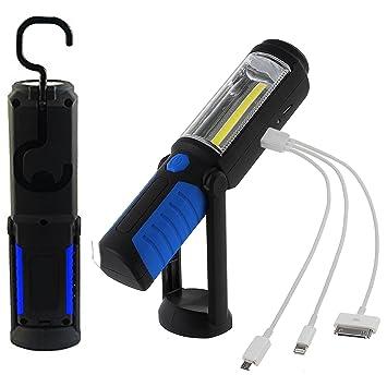 Led Cob Avec Lampe Travail Torche 3w Rechargeable De Electrique rCodxBe