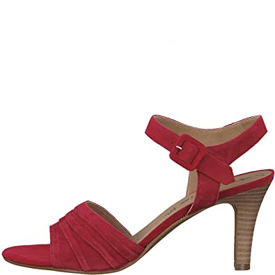 Tamaris Damen Sandaletten Da. Sandalette 1 1 28008 20 515 Rot 402235