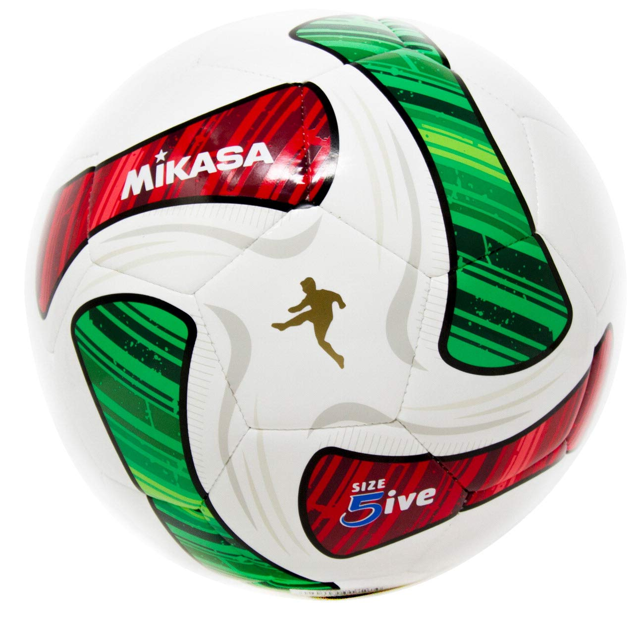 Mikasa SWA50-RG - Balón de fútbol de Lujo, tamaño Oficial 5ive ...