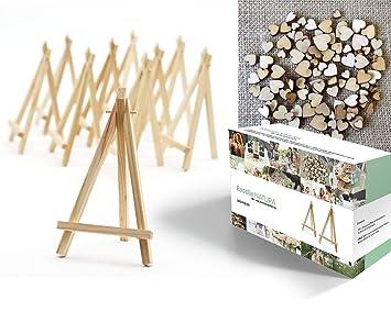 Easelia Natura 220 Pezzi Kit Comprendente 20 Mini Cavalletti Di