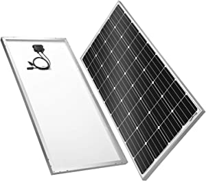 BougeRV 180 Watts Monocrystalline Solar Panel 12 Volts Mono Solar Cell Charger High-Efficiency Module for RV Marine Boat Off Grid
