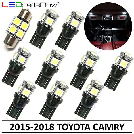 Toyota Camry Accessories >> Ledpartsnow Interior Led Lights Replacement For 2015 2018 Toyota Camry Accessories Package Kit 10 Bulbs White