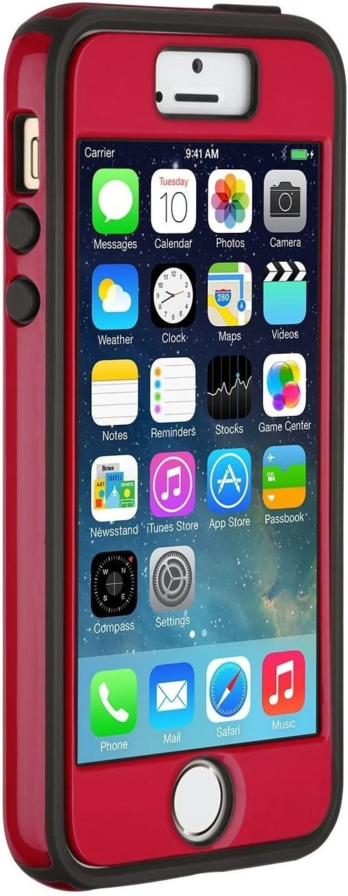 Speck Products iPhone SE/5/5s CandyShell + FACEPLATE Case [Does NOT FIT iPhone SE 2020] - Pomodoro Red/Black