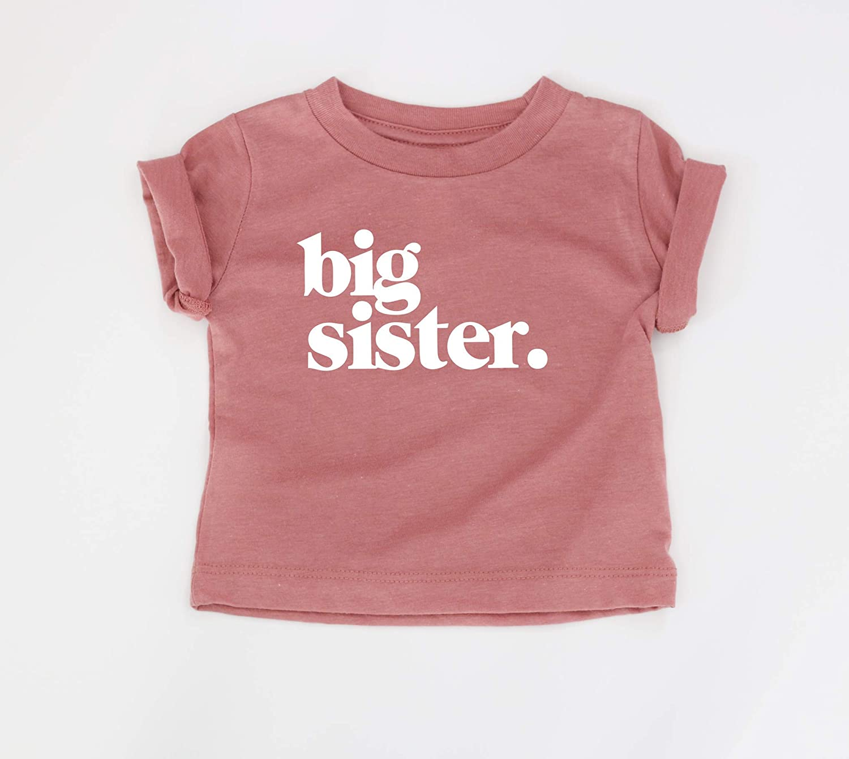 Mauve Shirt Baby Reveal Big Sis Shirt Mauve Big Sister Shirt Big Sister Tee Baby Announcement Big Sister