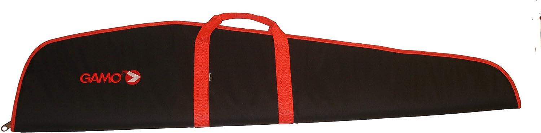 Funda Gamo para carabina con visor. Negra/Roja. 120cm