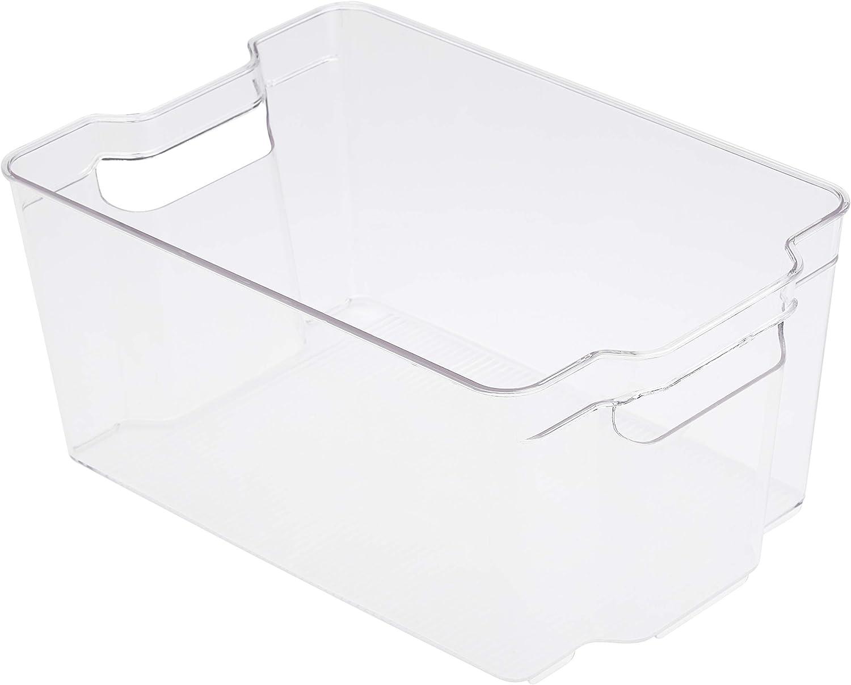 Basics Plastic Kitchen Storage Bin-Large 2-Pack
