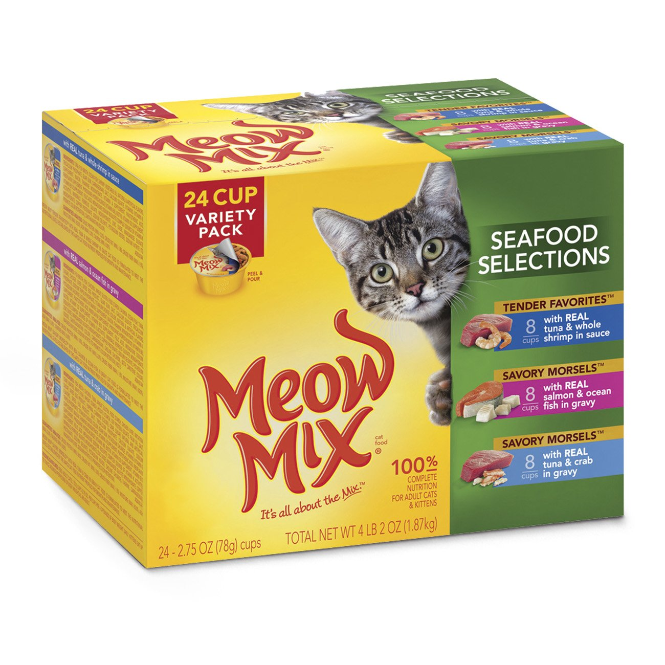 Meow Mix Seafood Selections Variety Pack Wet Cat Food, 2.75-Ounce (pack of 24) by Meow Mix (Image #1)