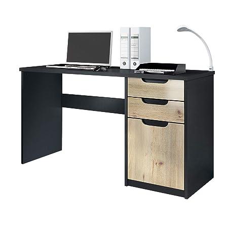 Vladon Escritorio Mesa para computadora Mueble de Oficina Logan ...