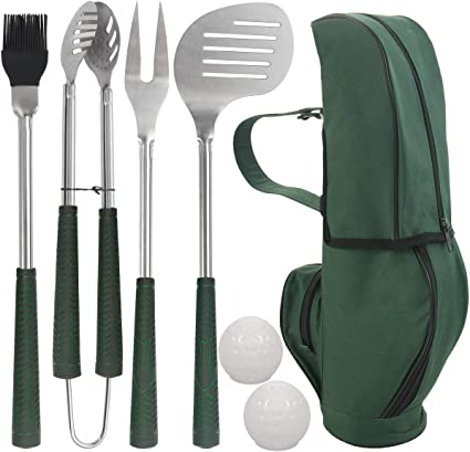 POLIGO 7pcs Golf-Club Style Grill Accessories Kit