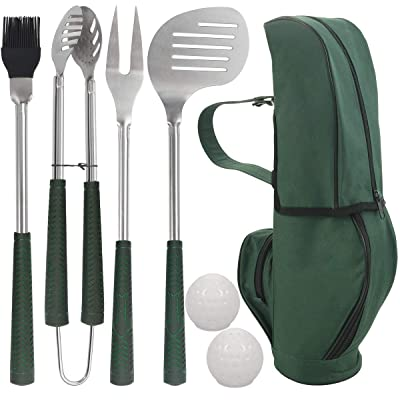 POLIGO 7pcs Golf-Club Style Grill Accessories Kit