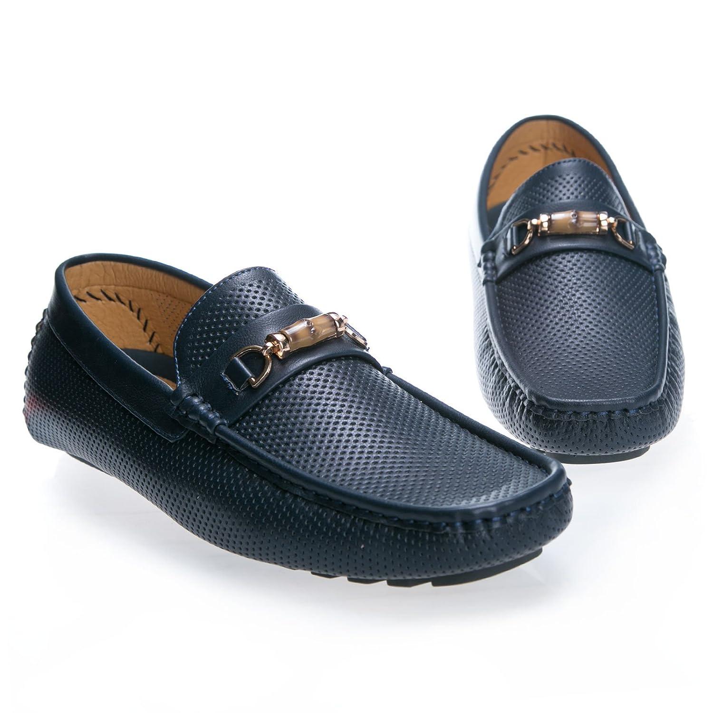 MForshop Mocasines de Material Sintético Para Hombre Azul Size: 42: Amazon.es: Zapatos y complementos