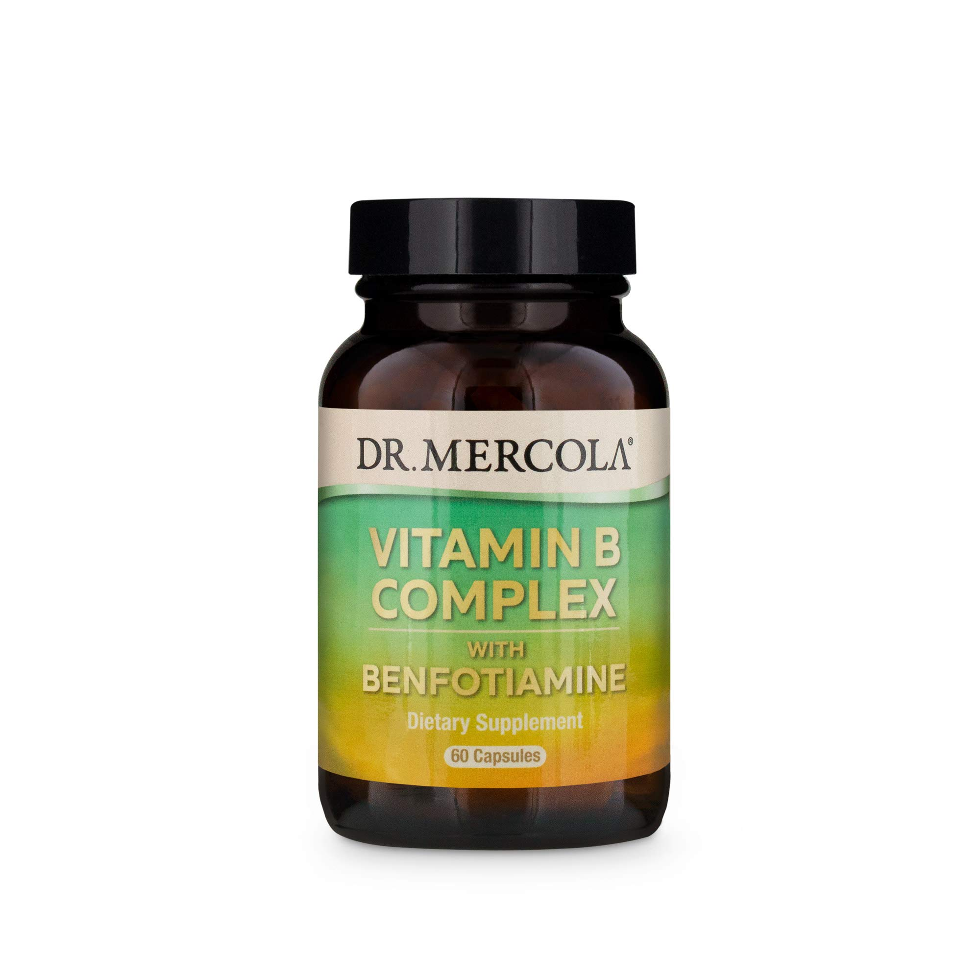 Dr. Mercola, Vitamin B Complex with Benfotiamine, 30 Servings (60) Capsules, Non GMO, Soy-Free, Gluten-Free by Dr. Mercola