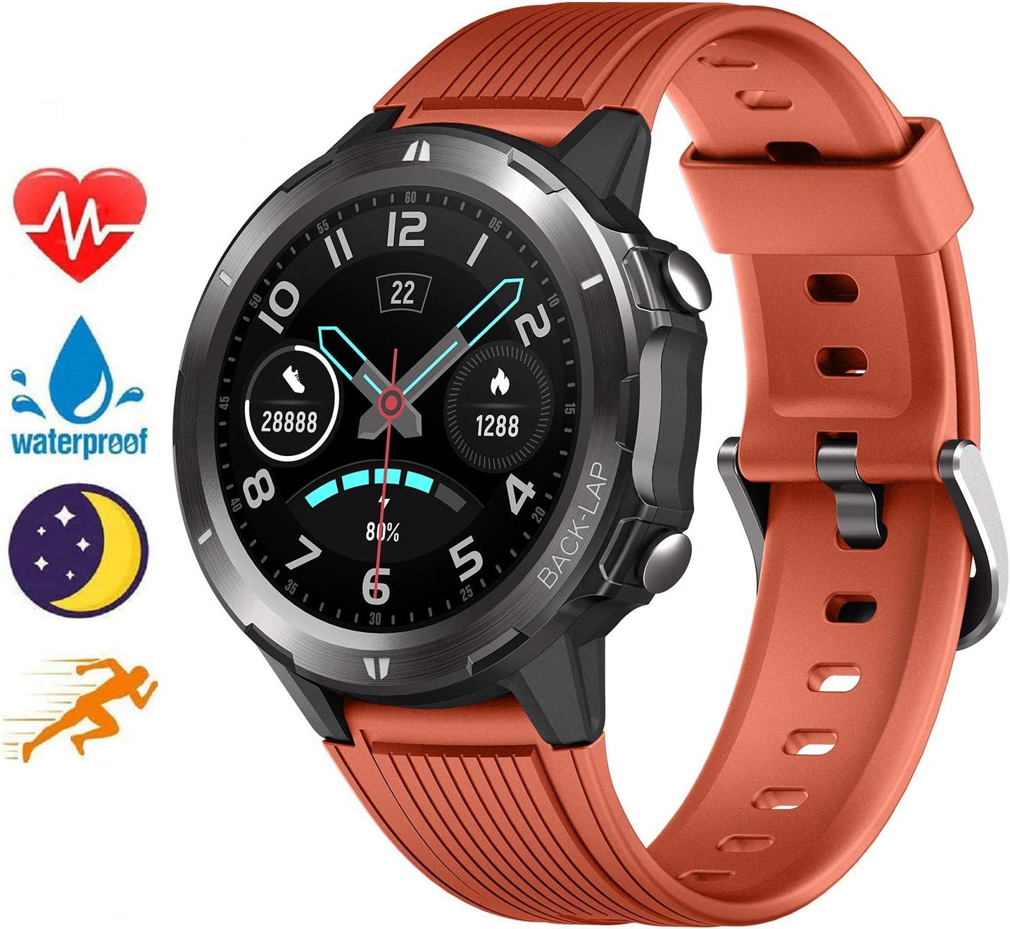 Blackview Smartwatch Fitness Tracker Watch Hombre Mujer,Rastreador de Actividad Podómetro Monitor de Sueño para Android iPhone Huawei Samsung Xiaomi Impermeable 5ATM Reloj Inteligente Deportivo