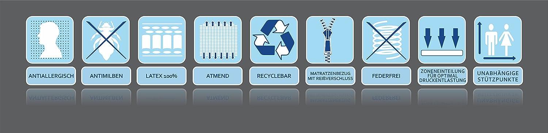 PRIMO Kokos - Colchón 100% látex (Grado de dureza H3, tecnología Dunlop), 180 x 200 x 16: Amazon.es: Hogar